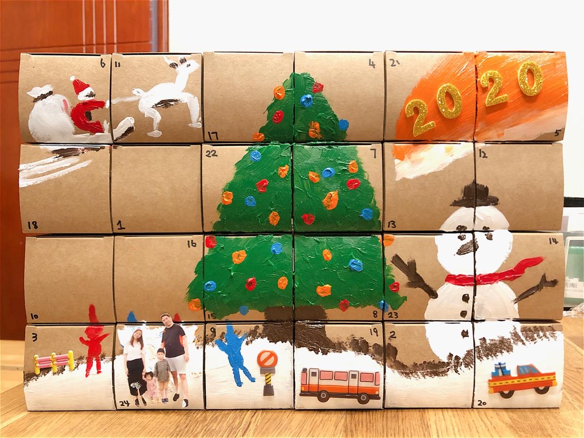 手作驚喜⋯聖誕倒數月曆